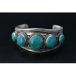 Armband - Turquoise stenen