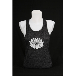 YogaStyles singlet lotus/ohm grijs one size
