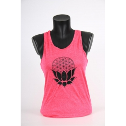 YogaStyles singlet lotus/flower of life roze one size