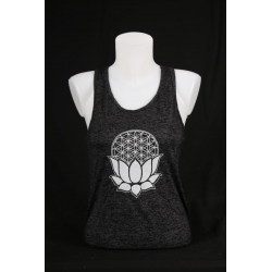 YogaStyles singlet lotus/flower of life zwart one size