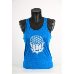YogaStyles singlet lotus/flower of life turkoois one size