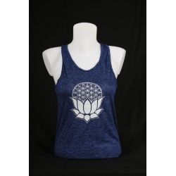YogaStyles singlet lotus/flower of life blauw one size
