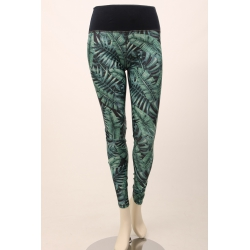 Om Namaste Tropical Legging - Blauw Groen - XL