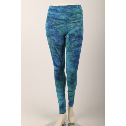 Om Namaste Batik Legging - Turquoise Small/Medium