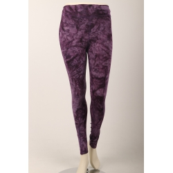 Om Namaste Batik Legging - Paars Small/Medium