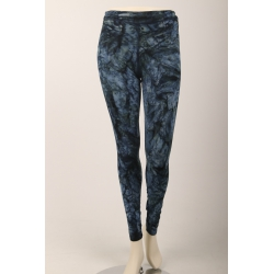 Om Namaste Batik Legging - Donkerblauw Medium/Large